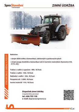 zimní údržba - Mechanizace