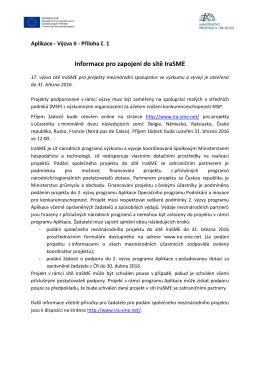 Oznámení o vyhlášení 4 - Ministerstvo průmyslu a obchodu