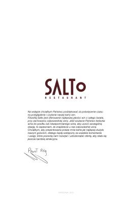 Karta Win - Salto Restauracja