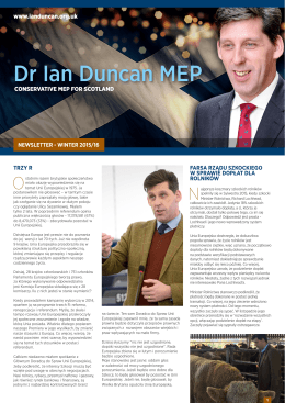 Dr Ian Duncan MEP