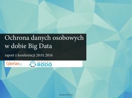 Ochrona danych osobowych w dobie Big Data