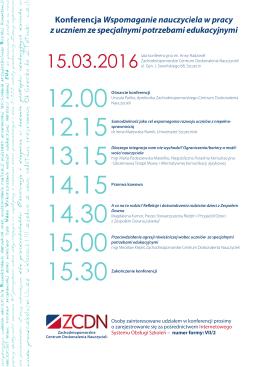 Szczegółowy program konferencji