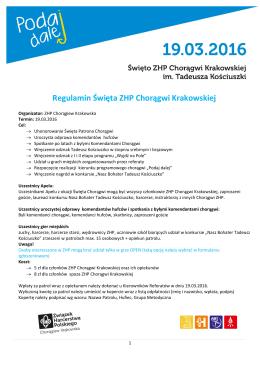 Regulamin Święta Chorągwi 2016