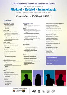 Pobierz plakat z programem - IV Międzynarodowa Konferencja