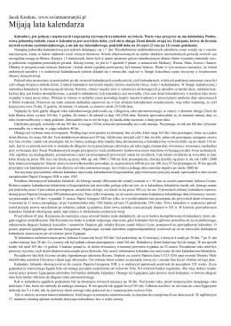 rys historyczny kalendarza gregoriańskiego.