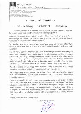 pismo - Jerzmanowice