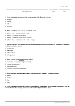 TEST 3 - biologia