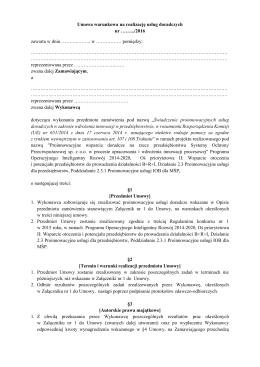 Umowa warunkowa na realizację Załącznik 2 – PDF