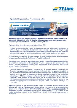 Agnieszka Skrzypulec z logo TT-Line startuje w Rio! Agnieszka