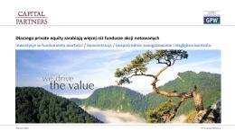 PRIVATE EQUITY FUNDUSZE AKCJI - 6. Fund Forum Analiz Online
