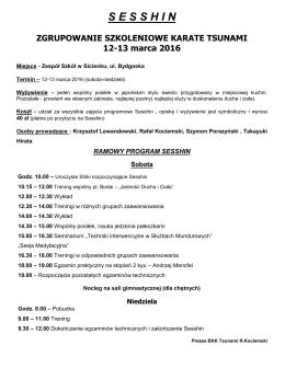 sesshin - Karate Tsunami Bydgoszcz