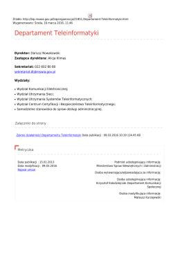 Departament Teleinformatyki - Ministerstwo Spraw Wewnętrznych i