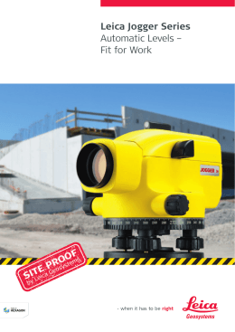 Leica Jogger Series Automatic Levels – Fit for Work