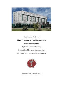 Konferencja Naukowa Finał VI Konkursu Prac Magisterskich