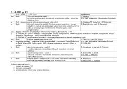 GRUPA 12 - I Klinika Anestezjologii i Intensywnej Terapii