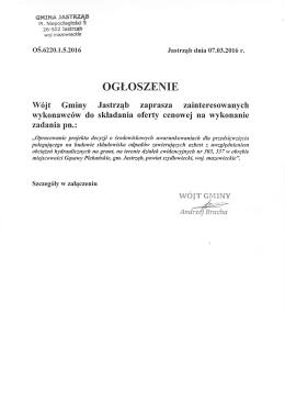 Ogłoszenie - PDF - [nowe okno]