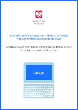 Strategic Action Priorities of the Minister