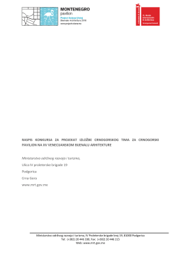 Raspis konkursa - Project Solana Ulcinj