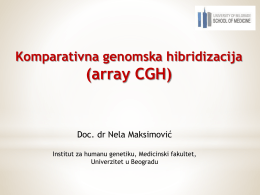 Array CGH (Nela Maksimović)