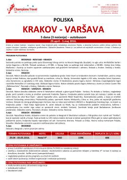 Krakov 29.04. – 03.05. – BUS