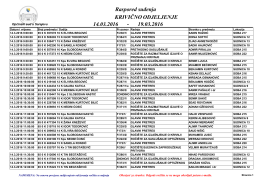 Raspored suđenja 14.03.2016 19.03.2016