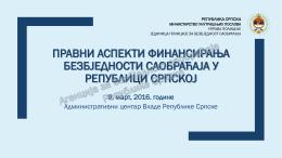 Goran Amidžić - Pravni aspekti finansiranja BS