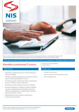 Menadžer za planiranje IT resursa