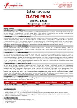 Prag – 28.04 – 03.05. – BUS