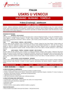 Venecija – 29.04. – 02.05. BUS