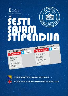 6s vodič.cdr - University of Sarajevo