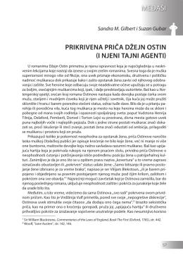 Sandra M. Gilbert i Suzan Gubar: PRIKRIVENA PRIČA