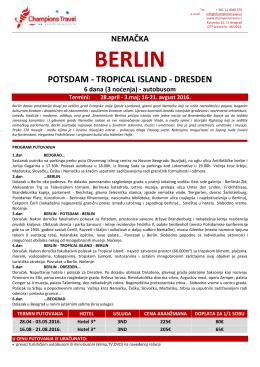 Berlin – 28.04. – 03.05. – BUS