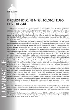 Dž. M. Kuci: ISPOVEST I DVOJNE MISLI