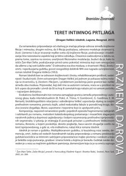 Branislav Živanović: TERET INTIMNOG PRTLJAGA
