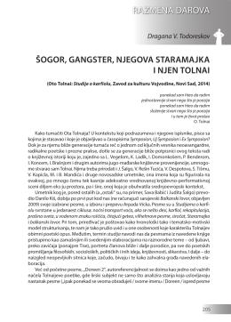 Dragana V. Todoreskov: ŠOGOR, GANGSTER, NJEGOVA