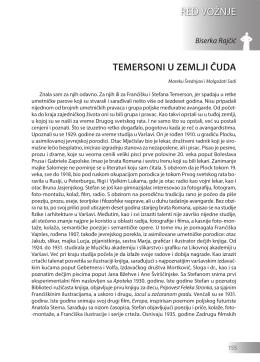 Biserka Rajčić: TEMERSONI U ZEMLJI ČUDA