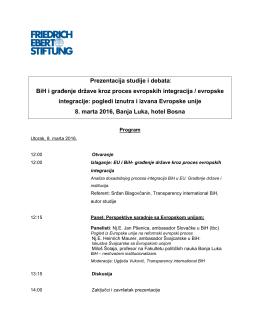 Prezentacija studije i debata: BiH i građenje države kroz proces