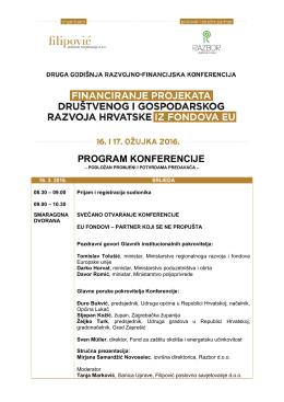 program konferencije - Hrvatska obrtnička komora
