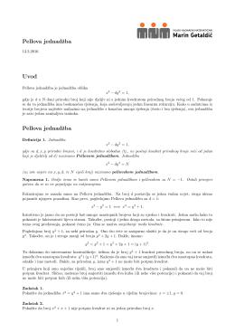 """Pellovoj jednadžbi - Mladi nadareni matematičari """"Marin Getaldić"""""""