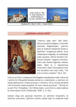 Korizmeno-uskrsni župni listić