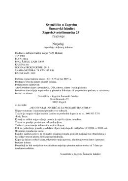 Sveučilište u Zagrebu Šumarski fakultet Zagreb,Svetošimunska 25