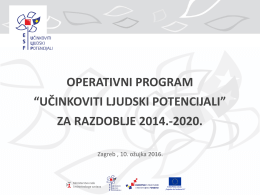 """""""učinkoviti ljudski potencijali"""" za razdoblje 2014."""