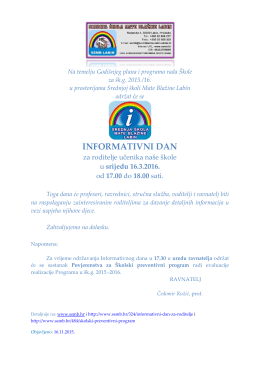 informativni dan - Srednja škola Mate Blažine Labin