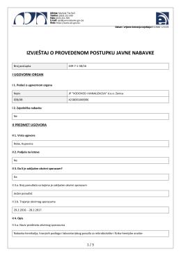 439-7-1-30_16 - JP Vodovod i Kanalizacija doo Zenica