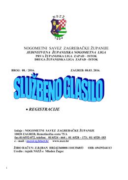 Glasnik 08-2016 - Nogometni savez Zagrebačke županije