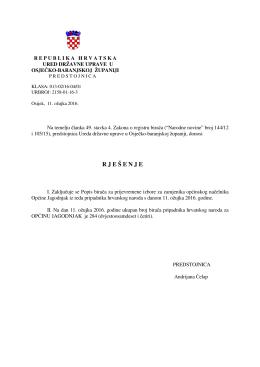 R J E Š E N J E - Ured državne uprave u Osječko
