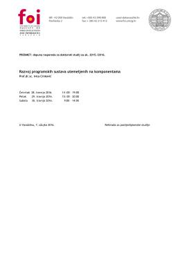 Razvoj programskih sustava utemeljenih na komponentama