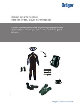 Dräger búvár tartozékok Katonai kivitelű Búvár berendezések