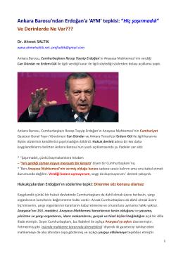 AYM - Prof. Dr. Ahmet SALTIK