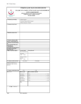 Klinik Araştırma Basvuru Formu - istanbul anadolu güney kamu